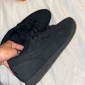 Fila black shoes size 11